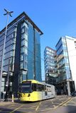 Metrolink Tram in Manchester city centre, England Stock Photography