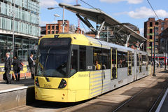 Metrolink tram at Shudehill Interchange Manchester Royalty Free Stock Photography