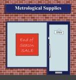 Metrological Supplies. The Metrological Supplies shop has an end of season sale Vector Illustration