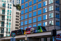 Metromover em Miami fotos de stock