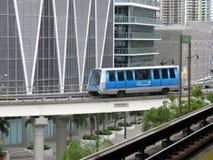 Metromover. In Miami city, Florida Stock Image