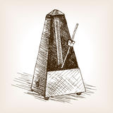 Metronome hand drawn sketch vector Royalty Free Stock Images