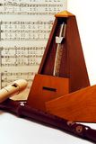 Metronome and Recorders Still Life Stock Images