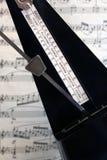 metronomemusikställning Arkivbild