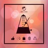 Metronomsymbolssymbol Royaltyfria Bilder