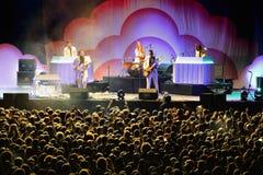 Metronomy (electronic music group) performance at Heineken Primavera Sound 2014 Royalty Free Stock Photo