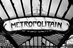 metroparis tecken Royaltyfri Fotografi