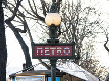 metroparis tecken Royaltyfria Foton