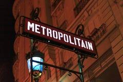 metroparis tecken Royaltyfri Foto