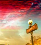 metroparis tecken Underjordiskt symbol Royaltyfria Bilder