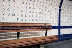 metroparis vägg Arkivbilder