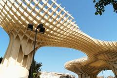 Metropol遮阳伞在塞维利亚,西班牙 免版税库存图片