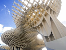 Metropol metrosol structure in sevilla   view from below Royalty Free Stock Photo