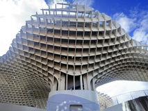 Metropol metrosol structure in sevilla   view from below Royalty Free Stock Photos