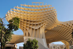 Metropol Parasol. Is a wooden building placed in La Encarnación square, in the old quarter of Seville, Spain. It was designed by the German architect Jürgen Royalty Free Stock Photos