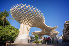 Metropol Parasol, modern architecture on Plaza de la Encarnacion  in Seville Stock Images