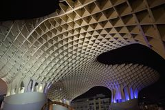Metropol Parasol in Plaza de la Encarnacion, the biggest wooden structure in Europe. Seville, Metropol Parasol in Plaza de la Encarnacion, the biggest wooden Stock Photo