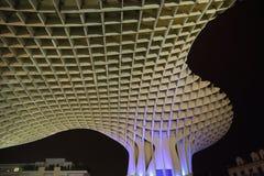 Metropol Parasol in Plaza de la Encarnacion, the biggest wooden structure in Europe. Seville, Metropol Parasol in Plaza de la Encarnacion, the biggest wooden Royalty Free Stock Photos