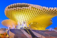 Metropol Parasol in Plaza de la Encarnacion - night view royalty free stock photography