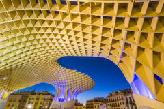 Metropol Parasol in Plaza de la Encarnacion - night view Stock Photos