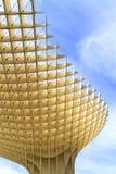 Metropol Parasol portrait. SEVILLE, SPAIN-MAY 09 2013: Metropol Parasol in Plaza de la Encarnacion. This large wooden structure designed by J. Mayer-Hermann is Royalty Free Stock Photo