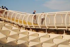 Metropol Parasol przej?cie, Seville zdjęcia royalty free