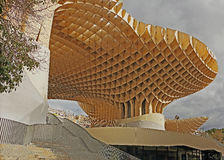 The Metropol Parasol in sevilla. The Metropol Parasol cover the Plaza de la Encarnación Stock Photos