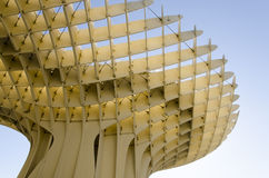 Metropol Parasol of Sevilla. Metropol Parasol, piece of architecture of Sevilla - view of the bottom Stock Photo
