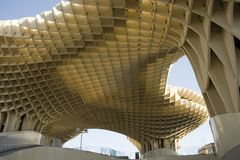 Metropol Parasol in Seville. The World Largest Wooden Structure Metropol Parasol in Seville Stock Photo