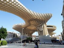 Metropol Parasol of Seville. This is the Metropol Parasol in Seville.nShotted in an hot day of July Royalty Free Stock Photos