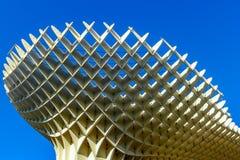 Metropol Parasol Seville Spain. Seville, Spain - January 17, 2015: Metropol Parasol is the modern architecture on Plaza de la Encarnacion.  It was designed by Stock Image