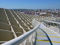 The metropol parasol in Seville Spain the worlds largest wooden structure royalty free stock photos