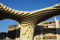 Metropol Parasol. View in Seville from Spain Royalty Free Stock Image