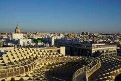 Metropol Parasol. View in Seville from Spain Royalty Free Stock Photography