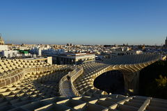 Metropol Parasol. View in Seville from Spain Stock Photography