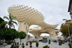 Metropol Parasol view, Seville, Spain Stock Photo
