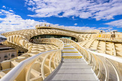 Metropol Parasol Walkway in Seville Royalty Free Stock Photo