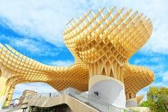 Metropol Parasol is a wooden structure located at La Encarnacion. Seville, Spain - June 08, 2017 : Metropol Parasol is a wooden structure located at La Stock Photos