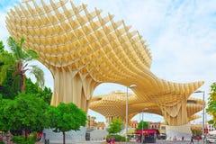 Metropol Parasol is a wooden structure located at La Encarnacion. Seville, Spain - June 08, 2017 : Metropol Parasol is a wooden structure located at La Royalty Free Stock Photo