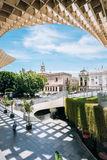 Metropol Parasol is a wooden structure located Plaza de la Encarnacion square Royalty Free Stock Photography