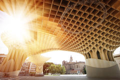 Metropol in Seville. SEVILLA, SPAIN. Metropol Parasol in Plaza de la Encarnacion, it is made from bonded timber with a polyurethane coating Stock Photos