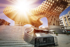 Metropol in Seville. SEVILLA, SPAIN. Metropol Parasol in Plaza de la Encarnacion, it is made from bonded timber with a polyurethane coating Stock Image