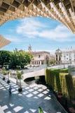 Metropol-Sonnenschirm ist hölzerne Struktur lokalisierte Plaza de la Encar Lizenzfreie Stockfotografie