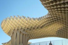 Metropol view point detail in Seville, Las setas. Spain. Horizontal Royalty Free Stock Photos
