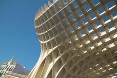 Metropol view point in Seville, Las setas. Spain. Horizontal Stock Photography