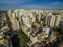 Metropole view from above. Aerial view of Sao Paulo city, Brazil. Metropole view from above. Aerial view of Sao Paulo city, Brazil South America. Pacaembu royalty free stock images
