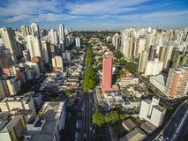 Metropole view from above. Aerial view of Sao Paulo city, Brazil. Metropole view from above. Aerial view of Sao Paulo city, Brazil South America. Pacaembu stock photo