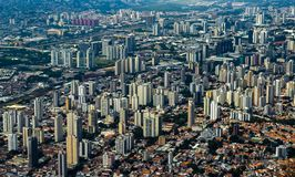 Metropole view from above. Aerial view of Sao Paulo city, Brazil. Metropole view from above. Aerial view of Sao Paulo city, Brazil South America royalty free stock images