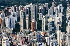 Metropole view from above. Aerial view of Sao Paulo city, Brazil. Metropole view from above. Aerial view of Sao Paulo city, Brazil South America stock photography