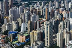 Metropole view from above. Aerial view of Sao Paulo city, Brazil. Metropole view from above. Aerial view of Sao Paulo city, Brazil South America royalty free stock photography